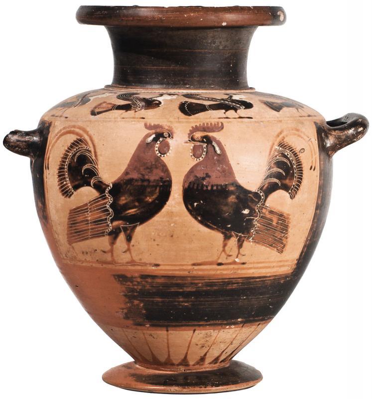 Гидрия чернофигурная с изображением