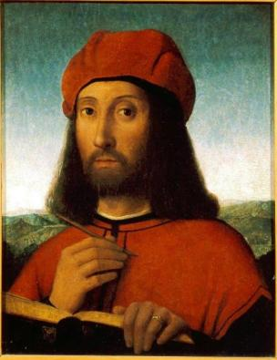 Портрет мужчины в красном берете с