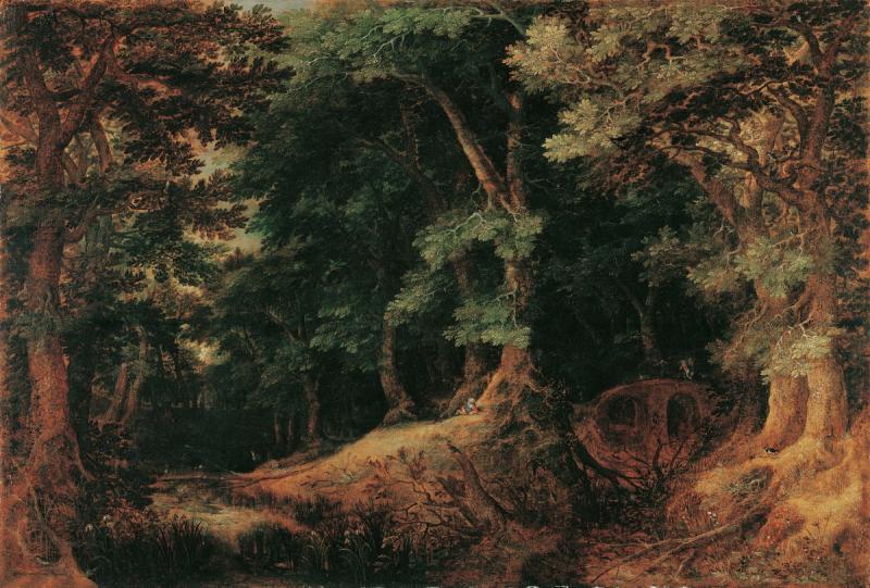 Гиллисван Конинксло. Лесной пейзаж. 1604